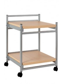 SIDE TROLLEY with wooden top panel. 2 shelves