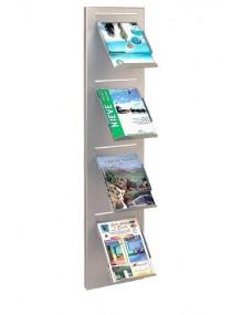 Wall-mounted metal display stand