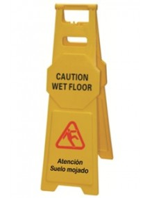 Señal  grande precaución suelo mojado / Caution wet floor