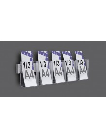 Expositor para folletos de pared 1/3 A4V 5 Departamentos  (116146/5)
