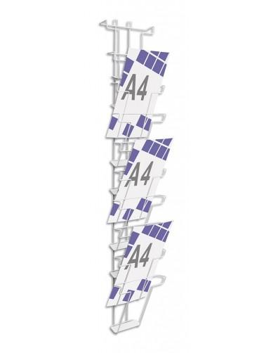 Expositor para folletos de pared 10 dptos. A4