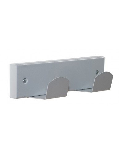 Percha de pared metalica 2 colgadores
