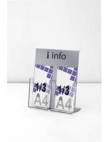 Expositor porta folletos 1/3 A4V de sobremesa