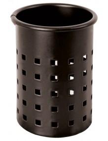 Pencil holder  (black - square perforation)