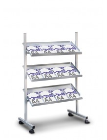 Front facing display stands for magazines and catalogues