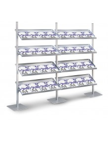 "Front facing display stands for magazines and catalogues "" frontal series "" "" FRONTAL series """