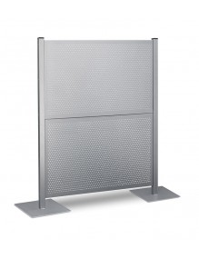 Mampara metálica paneles chapa perforada