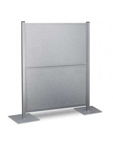 Mampara metalica paneles chapa perforada