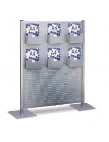 Mampara separadora con 6 estantes