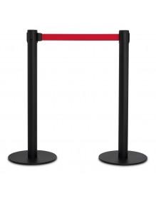 2 Postes separadores cinta 2 metros extensible retráctil