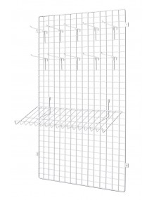 Panel made of wire net 150x60x1 + Plate to attach to a wall