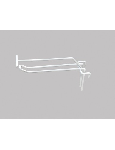 Gancho doble soporte etiqueta para panel de varilla