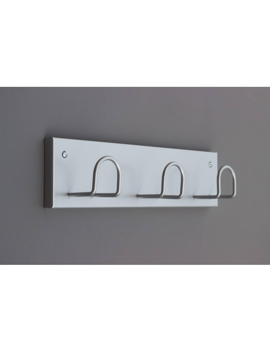 Wall-mounted rack  with 3 hooks