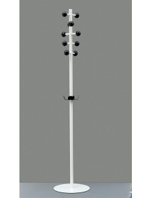 Coat rack with black ABS hooks