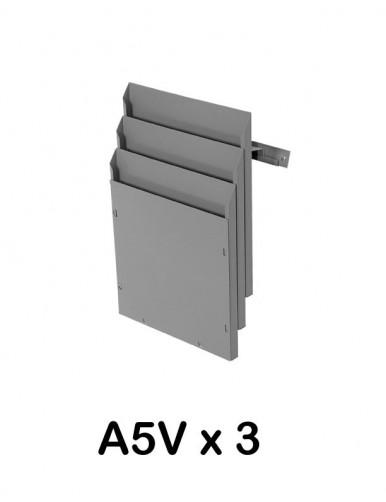 Expositor de pared A5V 3 Departamentos