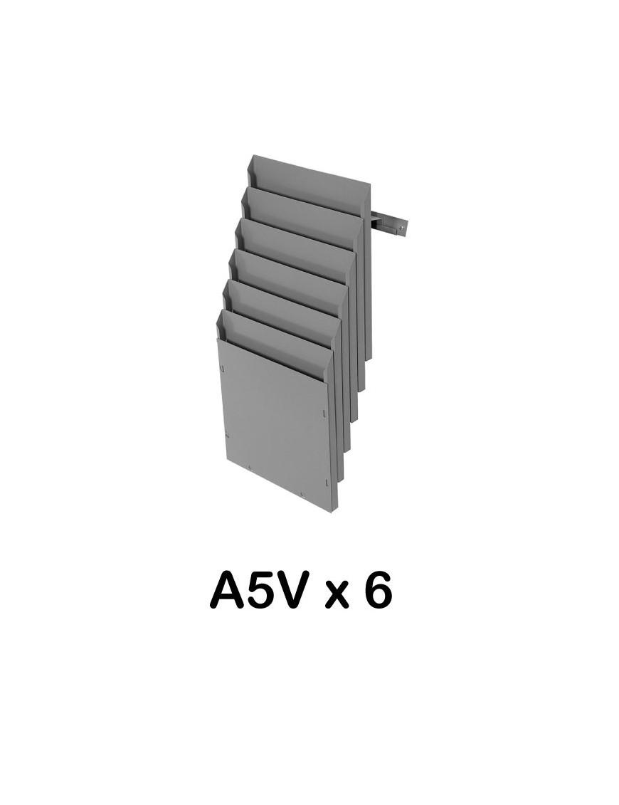 Expositor de pared A5V 6 Departamentos