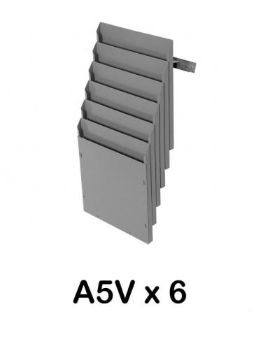 Expositor de pared A5V 6 Dptos