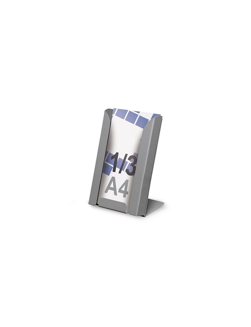 Expositor para folletos 1/3 A4V de sobremesa