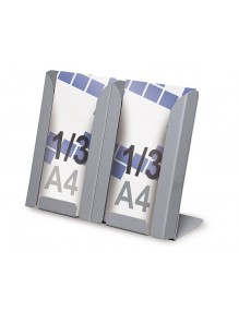 Expositor para folletos 2 x 1/3 A4V de sobremesa
