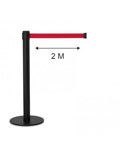 Poste separador cinta 2 metros extensible retractil