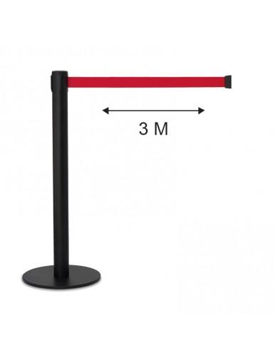 Poste separador cinta 3 metros extensible retractil