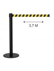 Poste separador cinta 3.7 metros extensible retráctil