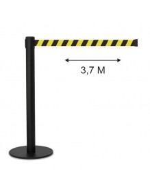 Poste separador cinta 3,7 metros extensible retractil