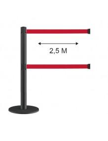 """1 POSTE CINTA 2,5 metros.1 POSTE DE CINTA EXTENSIBLE RETRÁCTIL de 2,5 metros. """" standard """"  """" POST series """""""