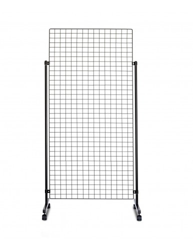 Display stand with Panels made of wire net (Black)