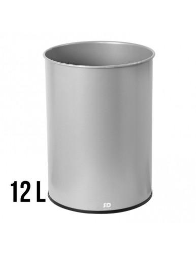 Papelera metalica 12Litros 31,5 x 21,5 cm.