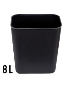 Rectangular flame-resistant bin 8L. - 26,5 x 23,5 x 16,5 cm.