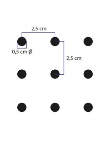 Gancho doble  para paneles perforados