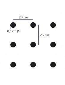 Gancho Doble  soporte etiqueta con chapa  para paneles perforados