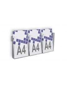 Expositor para folletos de pared A4V 3 Dptos (114846/3)