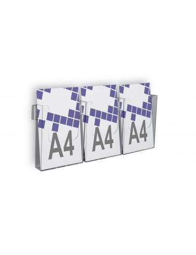 Expositor para folletos de pared A4V 3 Dptos