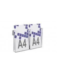 Expositor para folletos de pared A4V 2 Departamentos (114846)