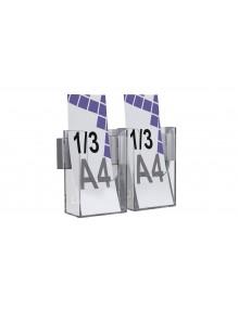 Expositor para folletos de pared 1/3 A4V 2 Dptos (116146)
