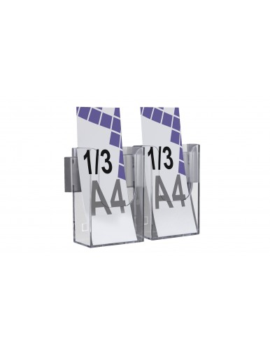 Expositor para folletos de pared 1/3 A4V 2 Dptos