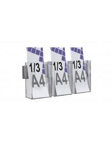 Expositor para folletos de pared 1/3 A4V 3 Departamentos (116146/3)