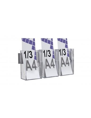 Expositor para folletos de pared 1/3 A4V 3 Dptos
