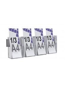 Expositor  para folletos de pared 1/3 A4V 4 Dptos (116146/4)