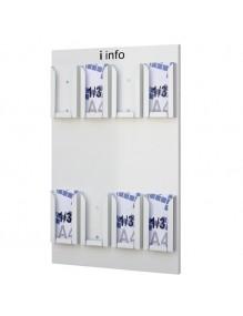 Expositor Portafolletos de pared din 1/3 A4V  (216102)