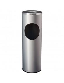 Papelera cenicero con tapa Aluminio 66,5 x 21,5 cm.