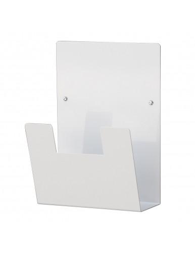 Expositor para folletos de pared metálico A4V (blanco)