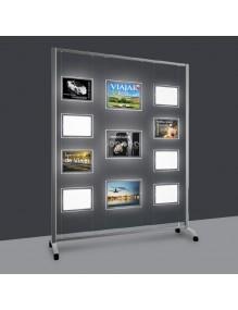 Expositores de LED A4V 9 Departamentos - para agencias inmobiliarias