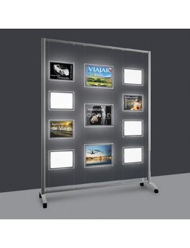 Expositores de LED A4V 6 Departamentos - para agencias inmobiliarias