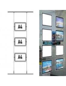 Expositores de LED A4H 3 Departamentos - para agencias inmobiliarias