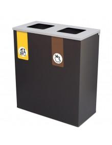 Papelera metálica de reciclaje 70 Litros