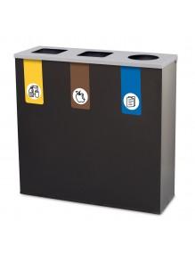 Papelera de reciclaje 26L + 26L + 26L