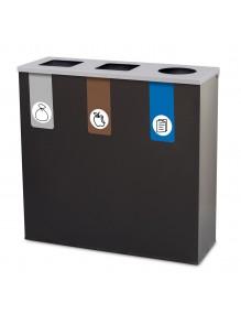Papelera metálica de reciclaje 78 Litros